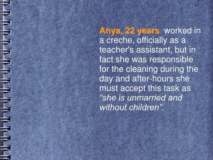 Anya, 22 years
