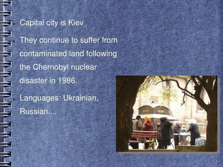 Capital city is Kiev