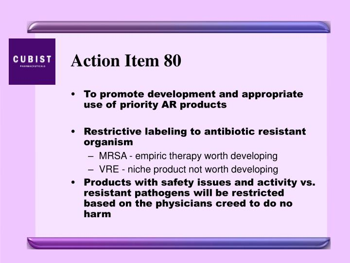 Action Item 80