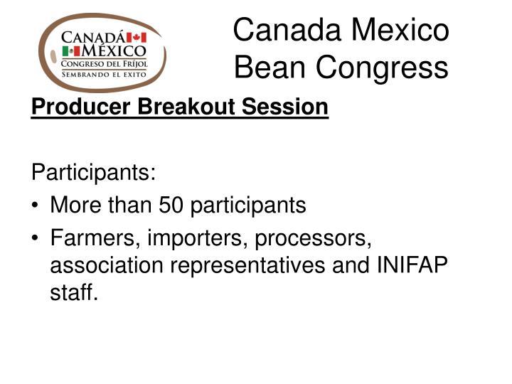 Canada Mexico Bean Congress