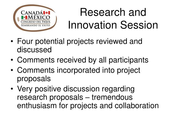 Research and Innovation Session
