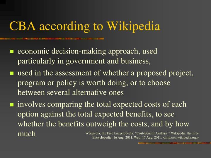 CBA according to Wikipedia