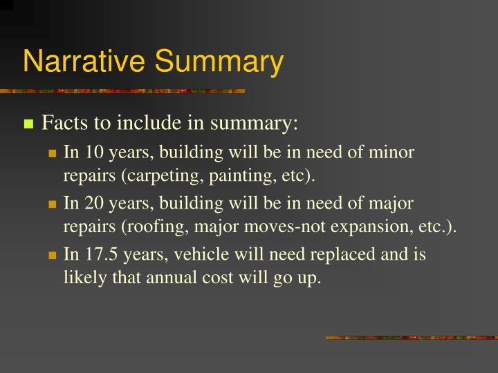 Narrative Summary