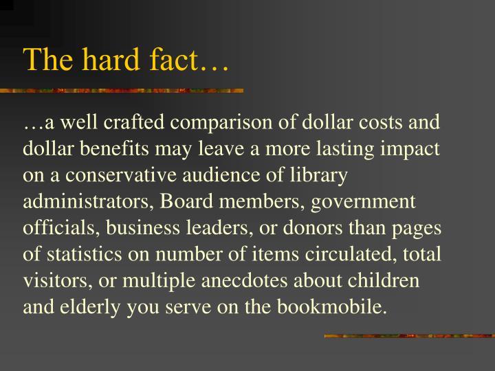The hard fact…
