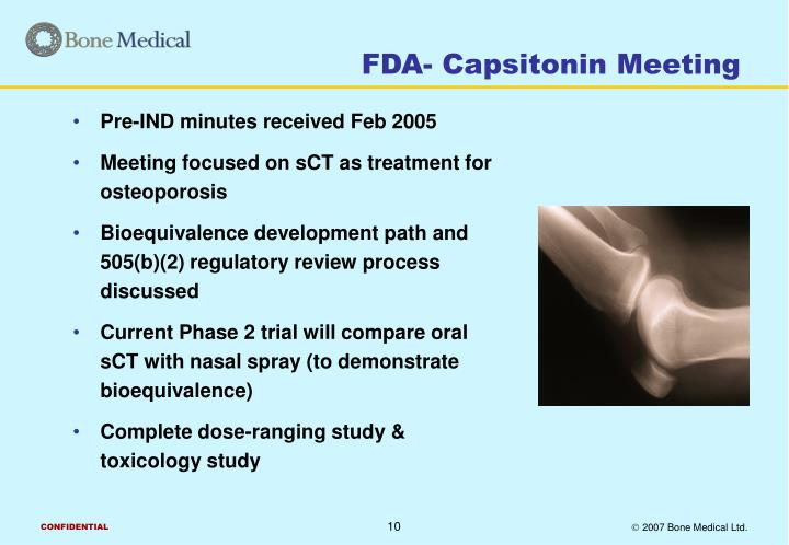FDA- Capsitonin Meeting