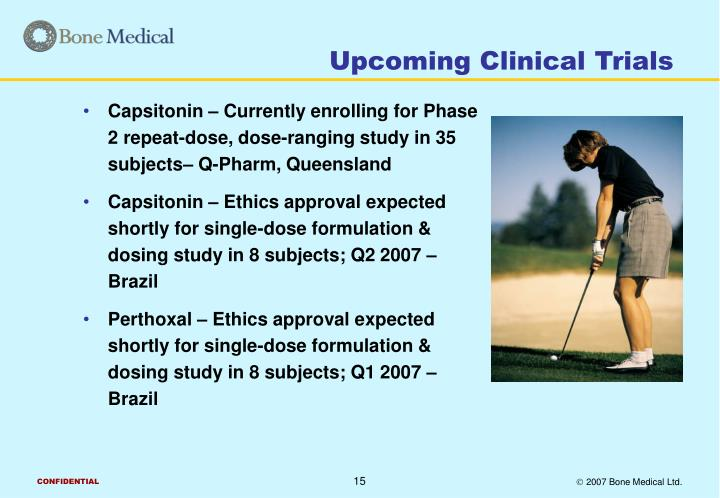 Upcoming Clinical Trials