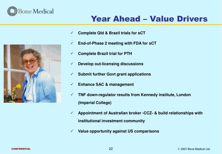 Year Ahead – Value Drivers