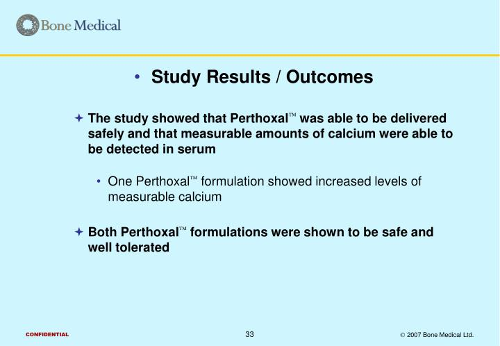Study Results / Outcomes