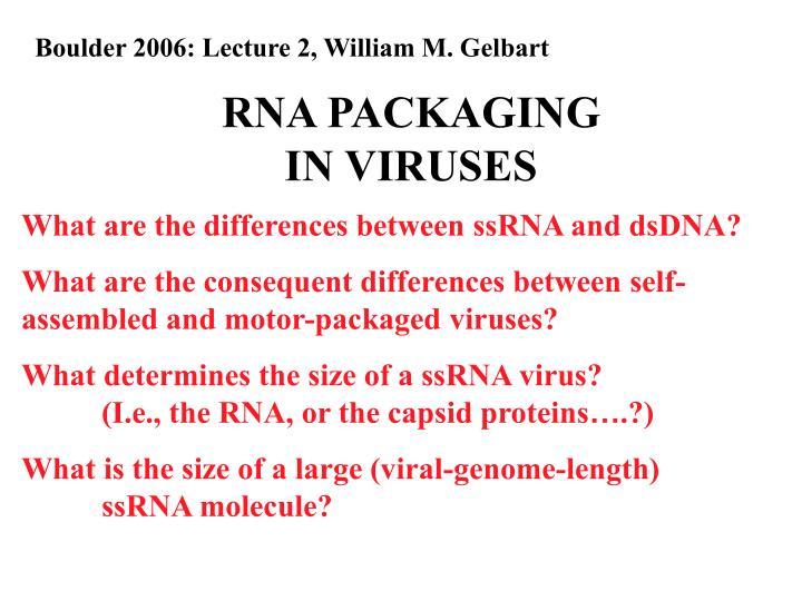 Boulder 2006: Lecture 2, William M. Gelbart