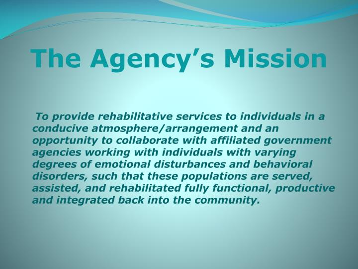 The Agency's Mission
