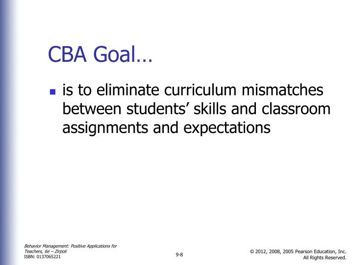 CBA Goal…