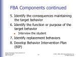 fba components continued