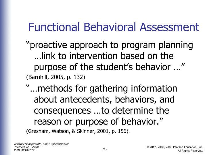 Functional Behavioral Assessment