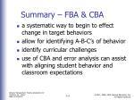 summary fba cba