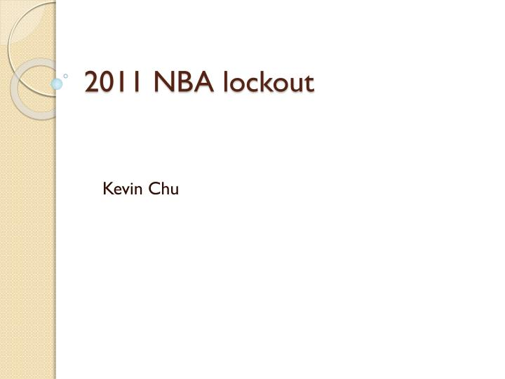 2011 nba lockout