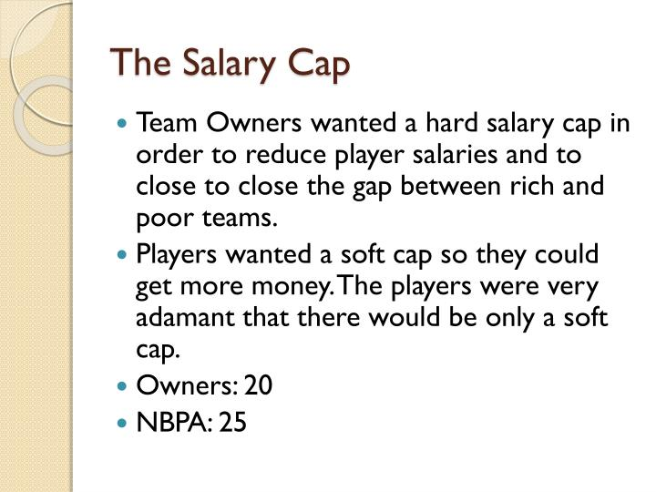 The Salary Cap