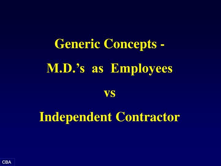 Generic Concepts -