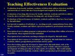 teaching effectiveness evaluation1