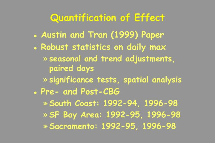 Quantification of Effect