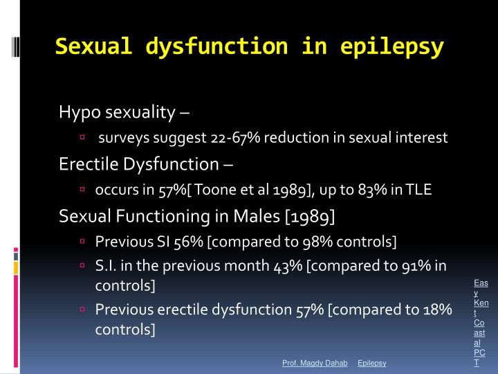 Sexual dysfunction in epilepsy