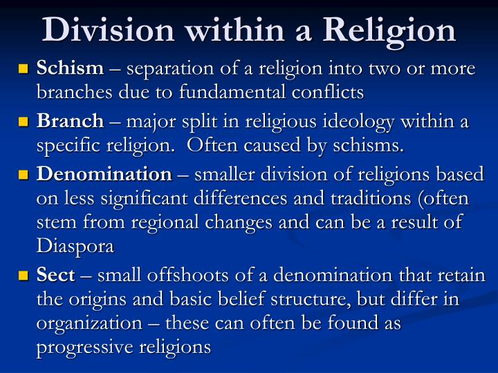 Division within a Religion