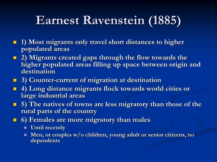 Earnest Ravenstein (1885)