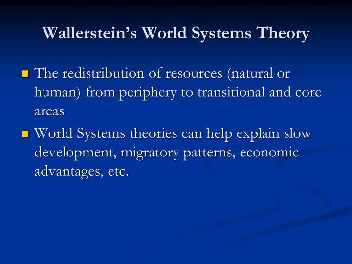 Wallerstein's World Systems Theory