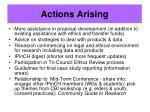 actions arising