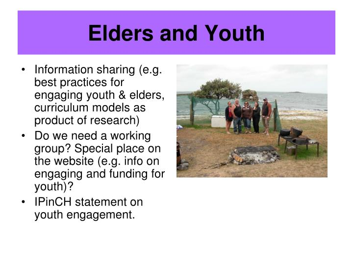 Elders and Youth