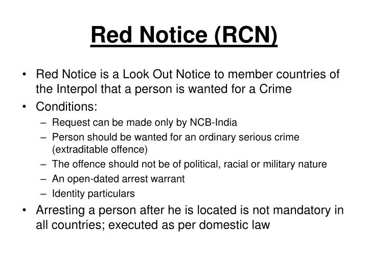 Red Notice (RCN)