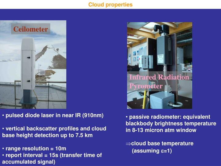 Cloud properties