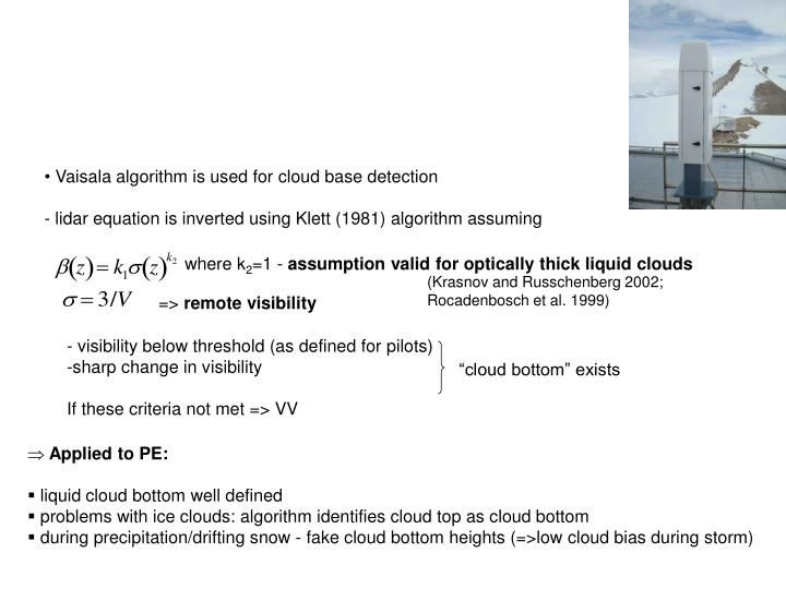 - visibility below threshold (as defined for pilots)