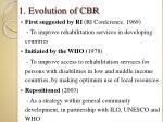 1 evolution of cbr
