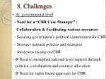 8 challenges