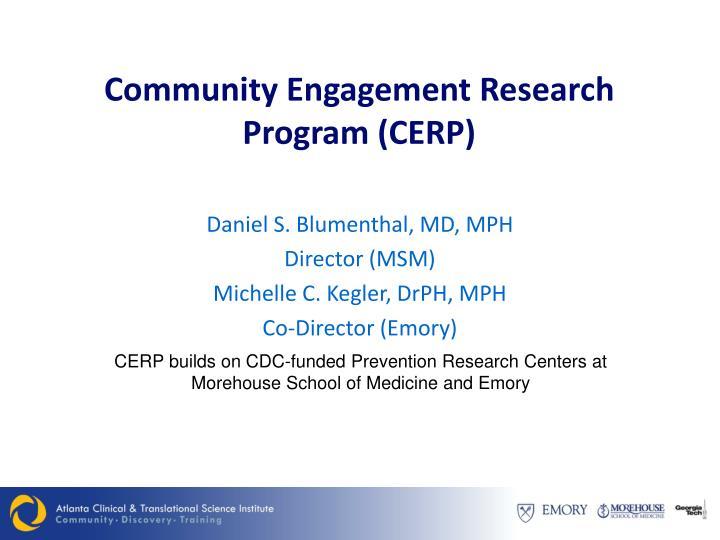 Community Engagement Research Program (CERP)