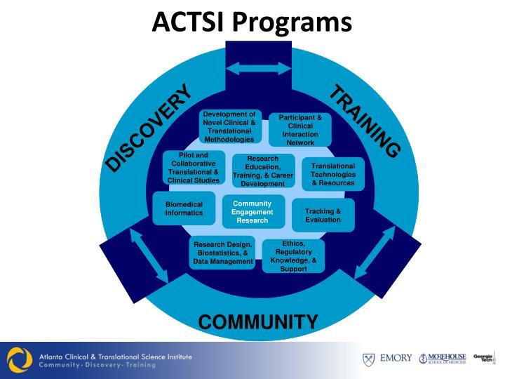 ACTSI Programs