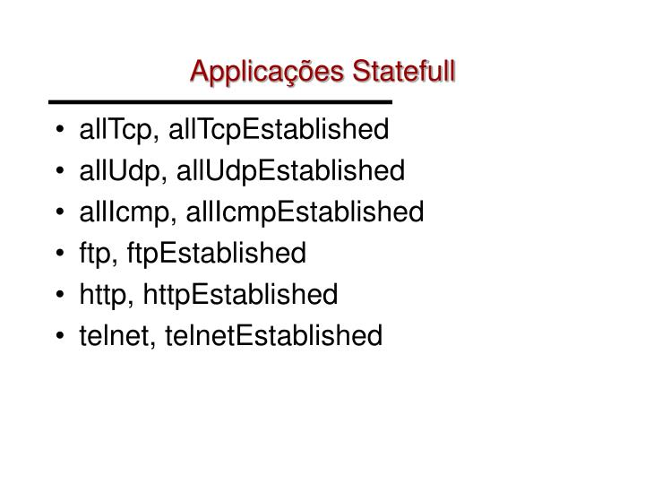 Applicações Statefull
