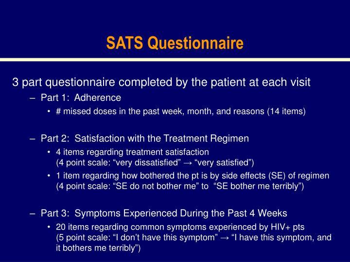 SATS Questionnaire