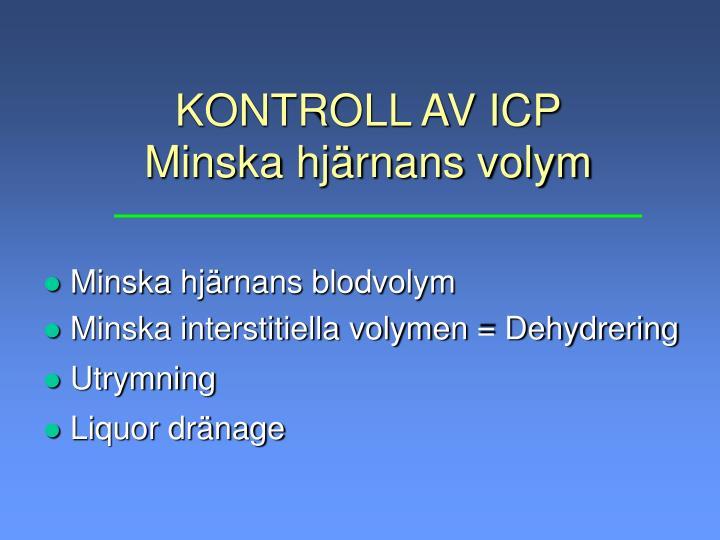 KONTROLL AV ICP