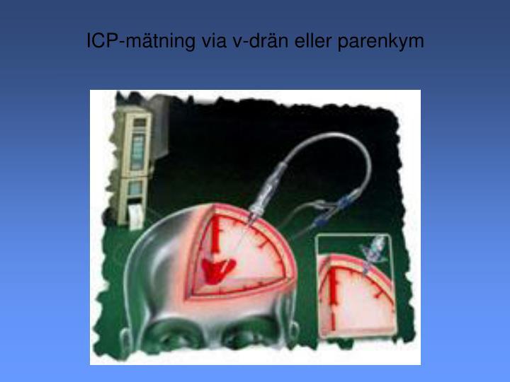 ICP-mätning via v-drän eller parenkym