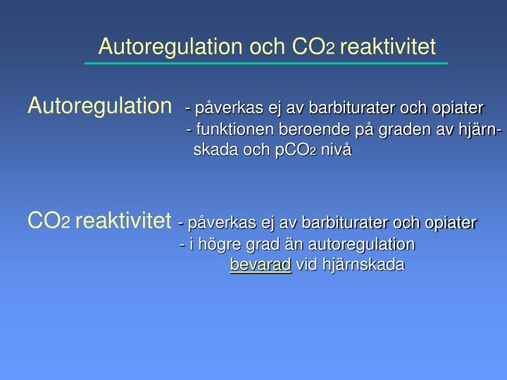 Autoregulation och CO