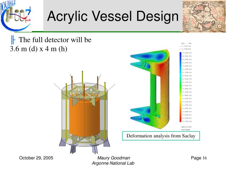 Acrylic Vessel Design