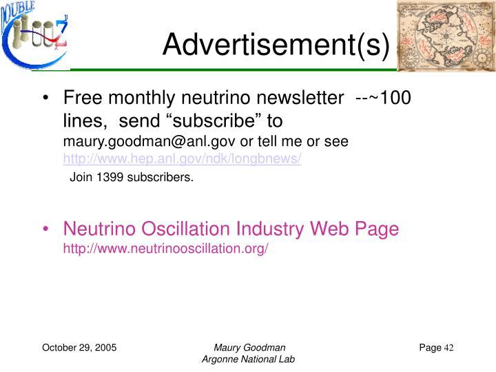 Advertisement(s)