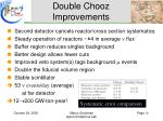 double chooz improvements