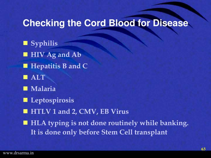 Checking the Cord Blood for Disease