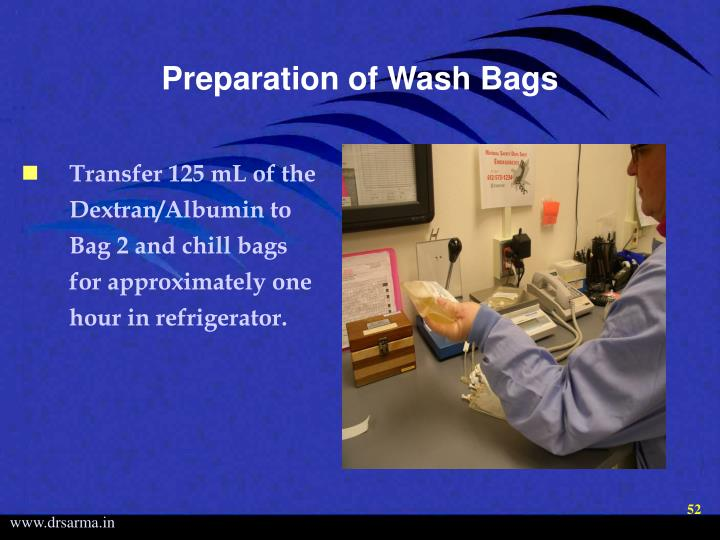 Preparation of Wash Bags