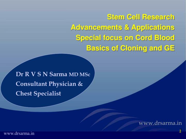 Stem Cell Research Advancements & Applications