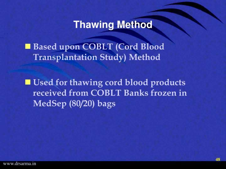 Thawing Method