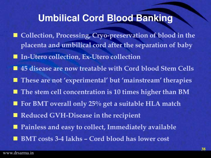 Umbilical Cord Blood Banking