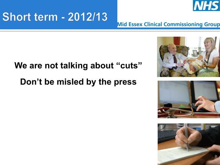 Short term - 2012/13